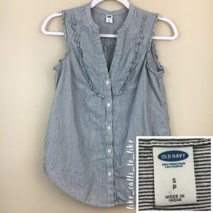Old Navy Button Down Ruffle Top - Size S